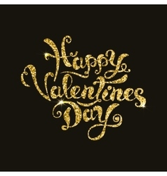 happy valentines day lettering Hand drawn phrase vector image vector image