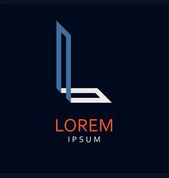 l letter logo icon vector image