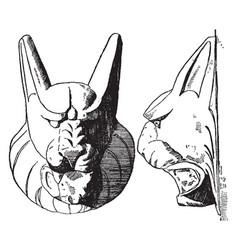 Lynx head full swings vintage engraving vector