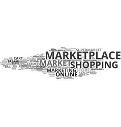 Marketplace word cloud concept vector