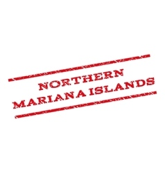 Northern Mariana Islands Watermark Stamp vector image vector image