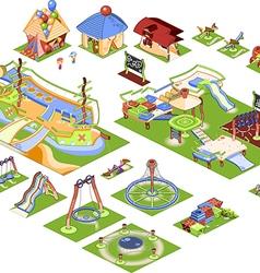 Playground - isometric vector image