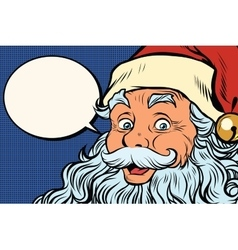Santa claus tells comic bubble vector
