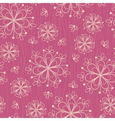 Seamless pattern with flowers on rose background vector image vector image