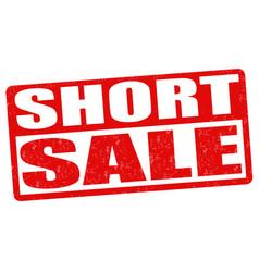 Short sale stamp vector