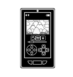 Silhouette smartphone control remote for drones vector