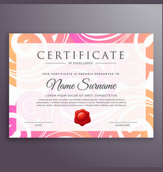 stylish floral background certificate design vector image