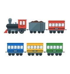 Vintage retro transportation train vector