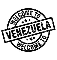 Welcome to venezuela black stamp vector