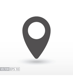 Pin location - flat icon vector