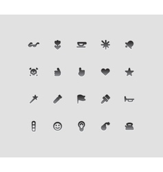 Miscellaneous interface icons vector image
