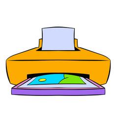 photo printer icon cartoon vector image