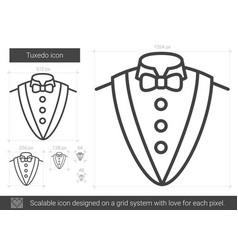 tuxedo line icon vector image