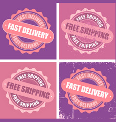 Free shipping and fast delivery stamps vector