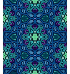 Bold pattern with indian motifs vector