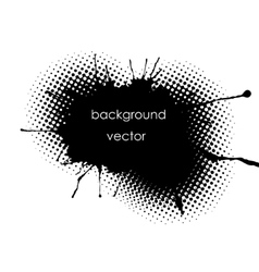 Grunge spot background for inscriptions vector