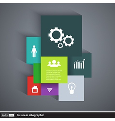 Infographics template cubes and squares vector