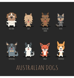 Set of australian dogs  eps10 format vector