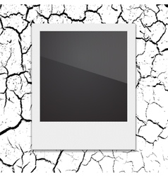 Retro Polaroid photo frame on the background vector image