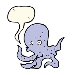 cartoon octopus with speech bubble vector image