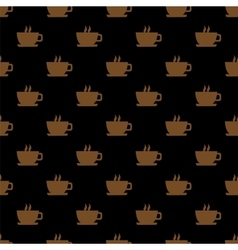 Seamless pattern background with cups vector image