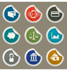 Finance simply icons vector