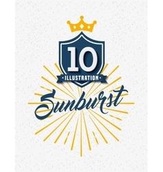 Sunburst frame design vector