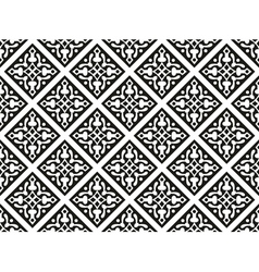 Seamless geometrical gothic floral pattern vector