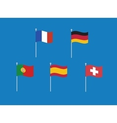 Set of west europe flags like france vector