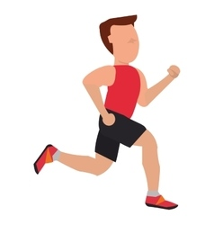 Person with sleeveless top jogging vector