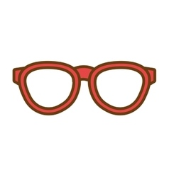 Hipster fashion eyeglass graphic vector