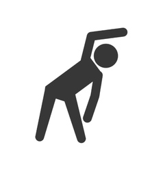 Pictogram stretching icon healthy lifestyle vector