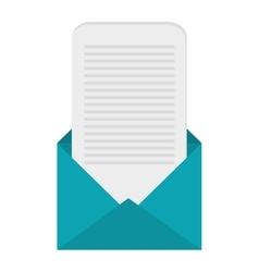 Open envelope with message coming out icon vector