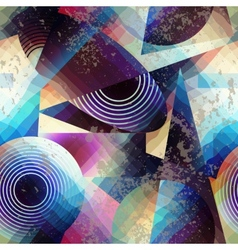 Abstract geometric pattern in cubism style vector