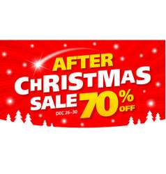 after christmas sale banner vector image vector image