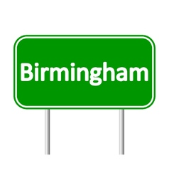 Birmingham green road sign vector
