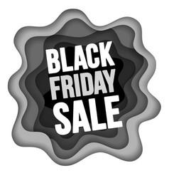 black friday sale advertise design vector image