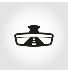 black rear view icon vector image