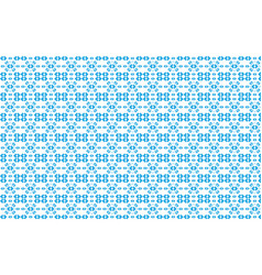 Blue pattern of geometric shapes on a white vector