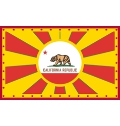 California state sun rays banner vector