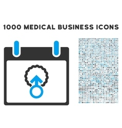 Cell penetration calendar day icon with 1000 vector