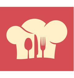 chefs hat vector image vector image