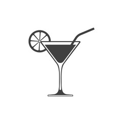 cocktail icon placed on white background vector image