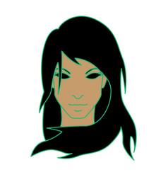 girl as virgo vector image vector image