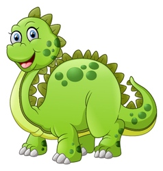 green dinosaur with spikes tail vector image vector image