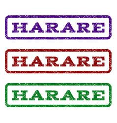 harare watermark stamp vector image
