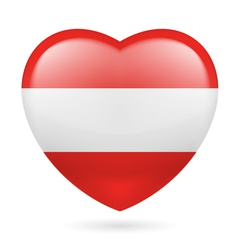 Heart icon of austria vector