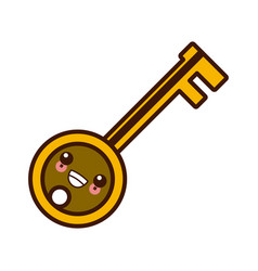 key door isolated kawaii cute cartoon vector image