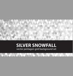 pentagon pattern set silver snowfall seamless vector image vector image