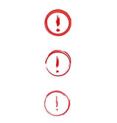 red danger sign with exclamation mark vector image